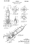 Patent 3,301,424 Astro-Berzac Rocket Cocktail Shaker