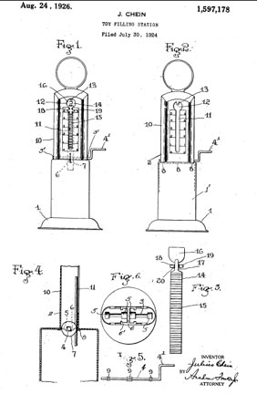 Chein Filling Station Toy Patent 1597178