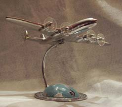 Air France Chrome statuette of the Lockheed Constellation