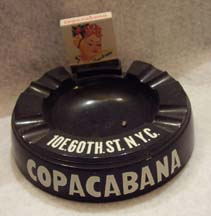 Matchbook and Ash Tray from the Copacabana