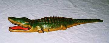 J. Chein Pressed Tin Alligator Toy