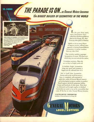 GM Locomotives Ad LIFE Magazine Oct 6, 1941