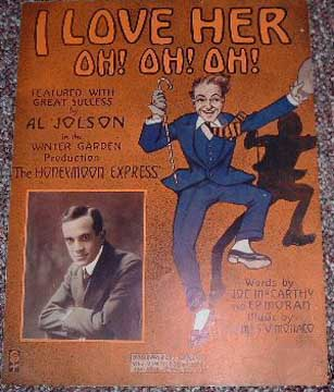 Al Jolson Honeymoon Express Sheet music