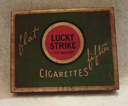 Raymond Loewy package for Lucky Strike Cigarettes