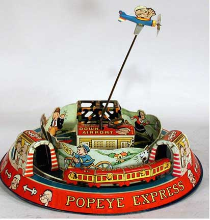 Marx Honeymoon Express Toy - Popeye Version