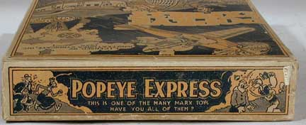 Marx Honeymoon Express Toy - Popeye Version Box