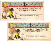 Tinker Toy Christmas Labels from the 1920s