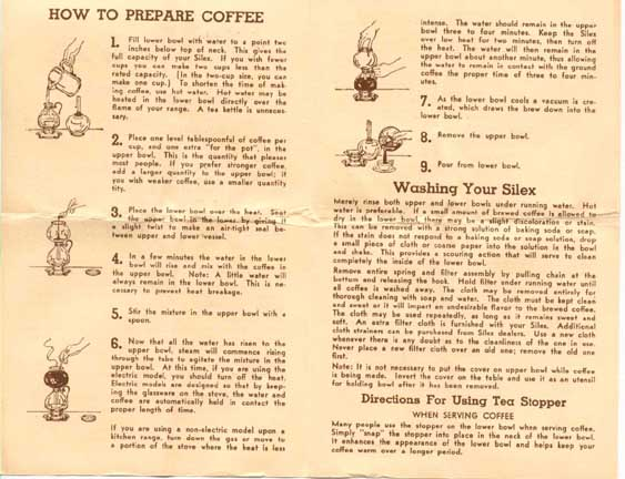 Vacuum Coffee Maker Instructions : info: vacuums in the 1920s
