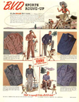 1941 Ad for BVD Sports Clothes
