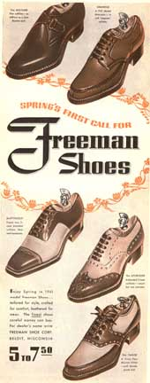 Freeman Shoes Ads