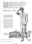 ad for haspel suits Holiday Magazine February 1949