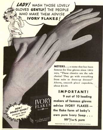 wash your gloves in Ivory Soap