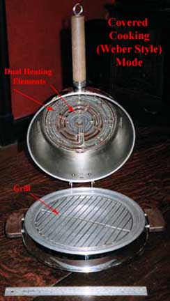 Manning-Bowman Smokeless Table Broiler - covered mode