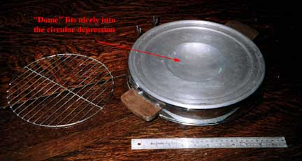 Manning-Bowman Smokeless Table Broiler - Depression in Base