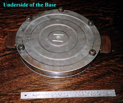 Manning-Bowman Smokeless Table Broiler - Underside of Base