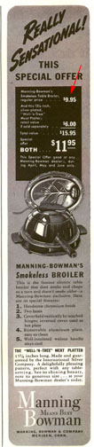 Manning-Bowman Smokeless Table Broiler Ad