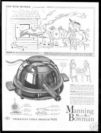 Manning-Bowman Smokeless Table Broiler - ad