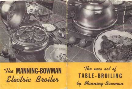Manning-Bowman Smokeless Table Broiler - Cover of Manual