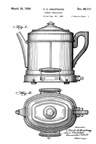 Armstrong Perc-O-Toaster Percolator Component Design Patent D-80717