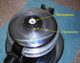 Thermostat and Thermometer on the Twin-O-Matic