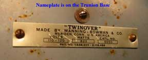 Twinover Name Plate