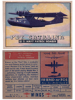 Card 007 of the Wings Friend or Foe series   PBY Catalina Flying Boat