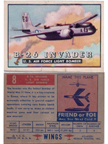 Card 008 of the Wings Friend or Foe series  The Douglas A-26 Invader