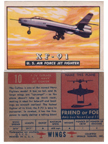 Card 010 of the Wings Friend or Foe series  Republic XF-91 Thunderceptor