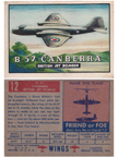 Card 012 of the Wings Friend or Foe series   English Electric Canberra B-57 Bomber