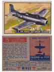 Card 015 of the Wings Friend or Foe series  The North American T-28 Trojan Trainer