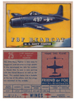 Card 025 of the Wings Friend or Foe series The Grumman F8F Bearcat