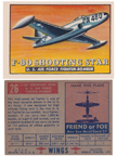 Card 026 of the Wings Friend or Foe series  Lockheed P-80 Shooting Star
