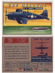 Card 028 of the Wings Friend or Foe series  the Grumman Hellcat  Fighter