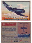Card 034 of the Wings Friend or Foe series  The Chance-Vought F4U Corsair