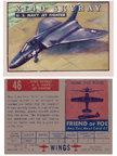 Card 046 of the Wings Friend or Foe series The Douglas F4D Skyray