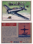 Card 047 of the Wings Friend or Foe series The North American AT6 Texan
