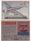 Card 058 of the Wings Friend or Foe series  The Boeing C-97 Stratofreighter