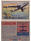 Card 061 of the Wings Friend or Foe series  the B-47 Stratojet