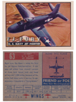 Card 63 of the Wings Friend or Foe series  North American FJ-3 Fury