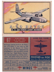 Card 067 of the Wings Friend or Foe series  The Douglas D8-7-B3 (A20) Havoc