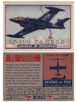 Card 075 of the Wings Friend or Foe series The AVRO CF-100 Canuck
