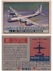 Card 081 of the Wings Friend or Foe series  The Boeing B-50 Superfortress