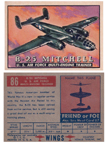 Card 086 of the Wings Friend or Foe series The North American B-25 Mitchell