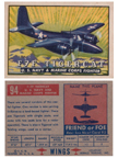 Card 094 of the Wings Friend or Foe series The Grumman F7F Tigercat