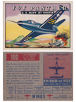 Card 100 of the Wings Friend or Foe series  Grumman F9F Panther