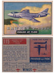 Card 115 of the Wings Friend or Foe series  The Hawker P.1081