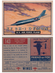 Card 143 of the Wings Friend or Foe series The McDonnell F3H Demon