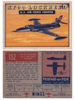 Card 152 of the Wings Friend or Foe series  The Lockheed XF-90