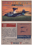 Card 192 of the Wings Friend or Foe series Colonial C-1 Skimmer